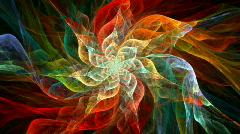 Fractal Flower spiral Stock Footage