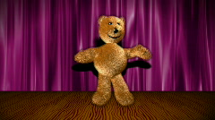 Dancing bear on stage HD1080 Loopable - stock footage