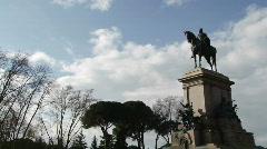 Rome Janiculum 2 Stock Footage