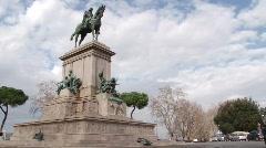 Rome Janiculum 1 Stock Footage