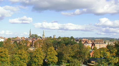 Shrewsbury skyline timelapse 2 1080p Stock Footage