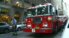 New York City fire dept truck FDNY, #3 Stock Footage