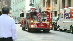 New York City fire dept truck FDNY, #1 Stock Footage