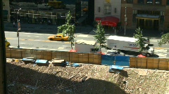 New York City, traffic and street scene, from 10 stories up Stock Footage