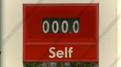 Oil & gas, gas station zero price, #3 Stock Footage