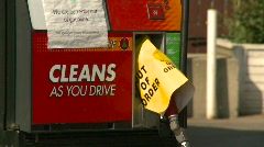 Oil & gas, gas station, out of order Stock Footage