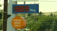 Stock Video Footage of oil & gas, gas station high price $1.32/Litre