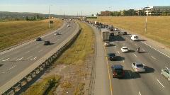 Freeway traffic, bumper to bumper, #2 Stock Footage