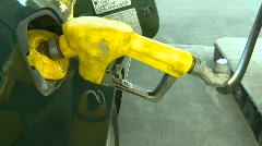 Oil & gas, gas station, diesel pump and car Stock Footage