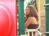 Stock Video Footage of Flavia at a Playground-2