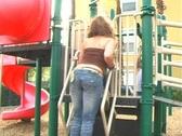 Stock Video Footage of Flavia at a Playground-3b