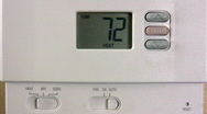 Setting Thermostat Temperature Stock Footage