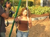 Stock Video Footage of Flavia at a Playground-6