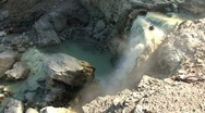 Stock Video Footage of Boiling Water Seam from Hot Springs