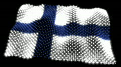 Glowing Flag - Finland 05 (HD) Stock Footage