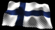 Stock Video Footage of Glowing Flag - Finland 05 (HD)