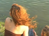 Stock Video Footage of Mother and Daughter at a Pond-11