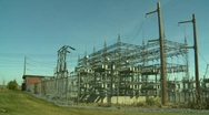 Stock Video Footage of electric substation, #9 wide