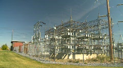 Electric substation, #10 wide shot Stock Footage