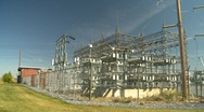 Stock Video Footage of electric substation, #10 wide shot