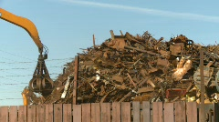 The environment, junkyard, metal recycler grapple, #15 Stock Footage