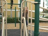 Stock Video Footage of Little Girl on a Playground (2)