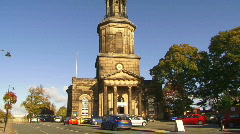 Shrewsbury stchads church 2 1080i Stock Footage