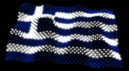 Stock Video Footage of Glowing Flag - Greece 05 (HD)