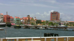 Famous boat bridge on curacao Stock Footage