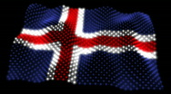 Stock Video Footage of Glowing Flag - Iceland 05 (HD)