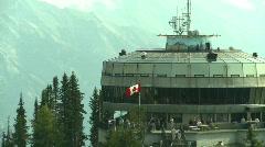 Gondola station, #3 top of mountain Stock Footage