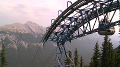 Gondola cars, #2 at top of mountain Stock Footage