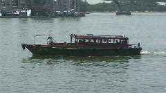 Singapore Water Taxi Stock Footage