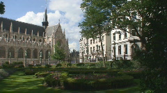 Brussels Cathedral - stock footage