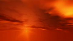 Firey sky sunset time-lapse Stock Footage