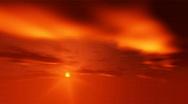 Firey sky sunset time-lapse Stock Footage