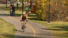 Sports & fitness, bike path in autumn, #1 Stock Footage