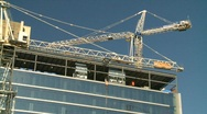 Stock Video Footage of construction cranes, #1
