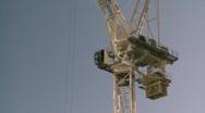 Stock Video Footage of construction crane, medium tight frame