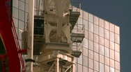 Stock Video Footage of construction crane and concrete pumper