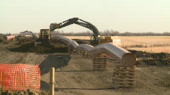 oil & gas, pipeline construction on the prairie, #12 - stock footage