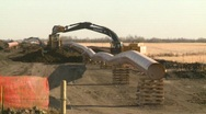Stock Video Footage of oil & gas, pipeline construction on the prairie, #12