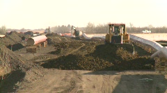 Oil & gas, pipeline construction on the prairie, #8 Stock Footage