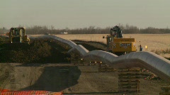 oil & gas, pipeline construction on the prairie, #10 - stock footage