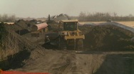 Oil & gas, pipeline construction on the prairie, #4 Stock Footage