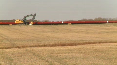 oil & gas, pipeline construction on the prairie, #6 - stock footage