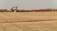 Oil & gas, pipeline construction on the prairie, #6 Stock Footage