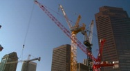 Stock Video Footage of construction cranes, #2