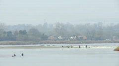Severn Bore Tidal Wave Stock Footage