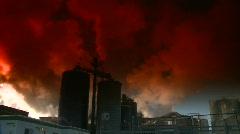 Industry, smoke stacks, #7 Stock Footage